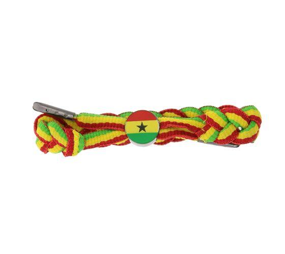 C3 Bracelet Hip Textile Bracelet Drapeau Ghana Jaune / Rouge / Vert