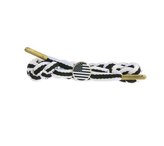 Bracelet Textile C3 Bracelet Tendance Drapeau USA Blanc / Noir