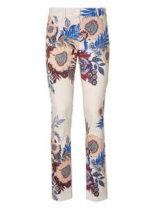 PATRIZIA DINI Hose Röhren-Hose trendige Damen Stoff-Hose mit Blumen Design Große Größen Bunt