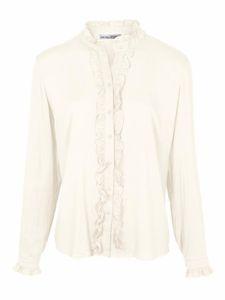 ashley brooke Bluse Party-Bluse wunderschöne Damen Rüschen-Bluse Große Größen Weiß