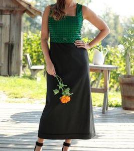 Love Nature Trachten-Kleid ärmelloses Damen Kleid Große Größen Grün/Schwarz