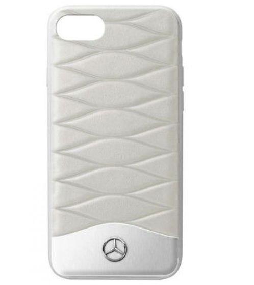 Mercedes-Benz Schutz-Cover gesteppte Handy-Hülle für iPhone 6 Plus/iPhone 7 Plus & iPhone 8 Plus Grau