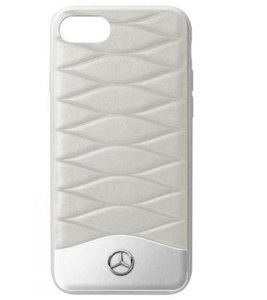 Mercedes-Benz Schutz-Cover gesteppte Handy-Hülle für iPhone 6 Plus/iPhone 7 Plus & iPhone 8 Plus Grau