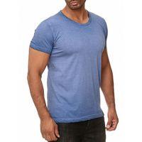Tazzio Fashion Mode-Shirt zeitloses Herren Kurzarm T-Shirt Blau 001
