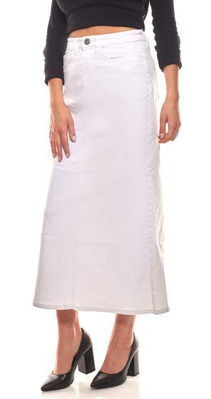 ARIZONA Jeans-Rock angesagter Damen Maxi-Rock mit Used-Effekten Kurzgröße Weiß