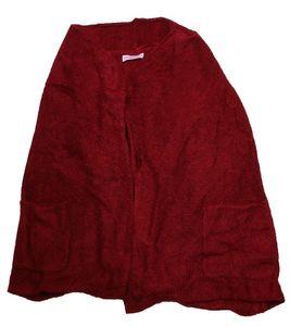 sheego Weste Jacke schlichte Damen Strick-Weste mit Eingrifftaschen Große Größen Bordeaux