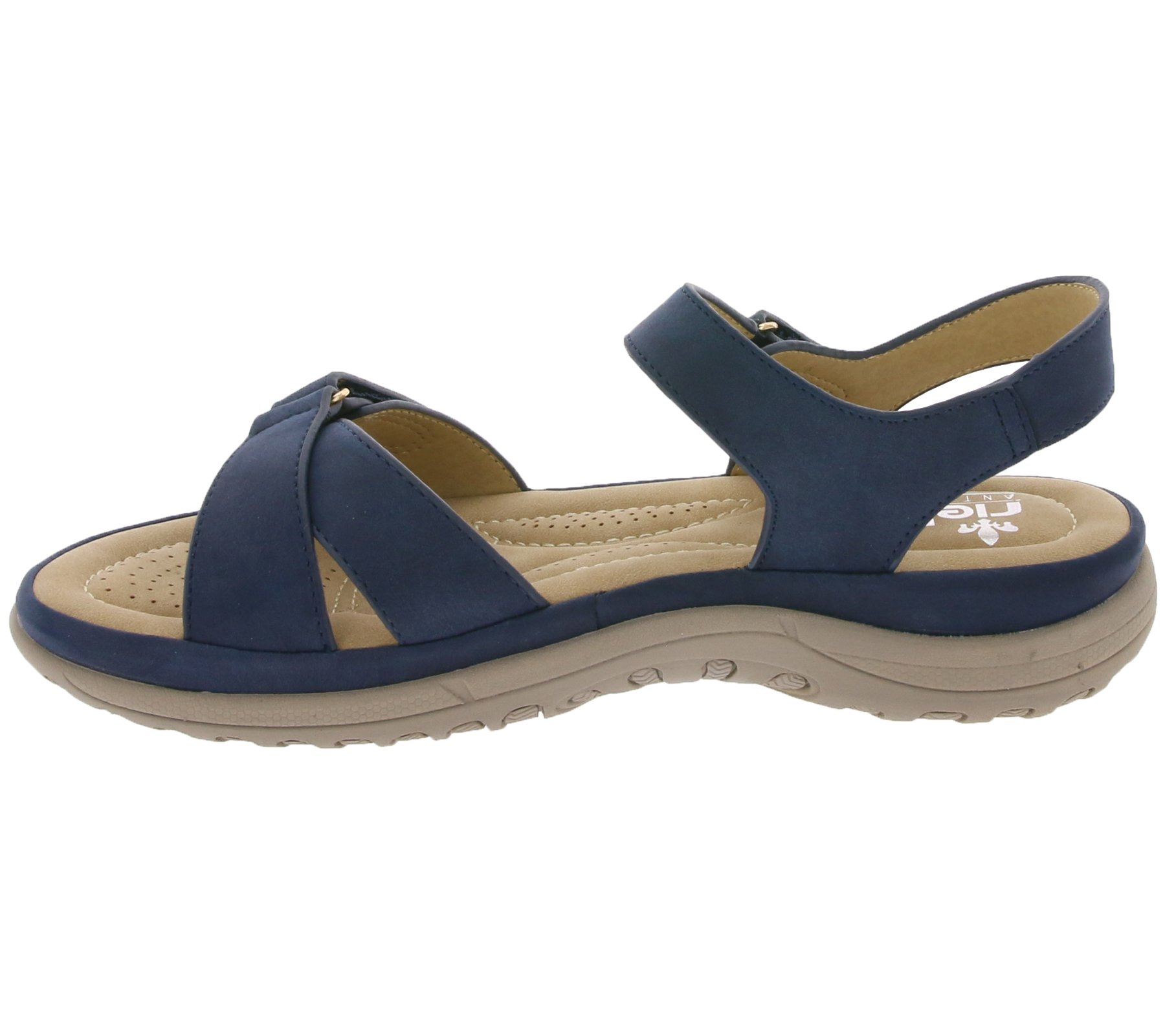 Details zu rieker Schuhe Sandalette funktionelle Damen Sandale Dunkelblau