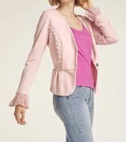 heine Jacke Frühlings-Jacke schöne Damen Kurz-Jacke mit Volants Große Größen Rosa
