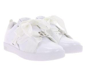 PUMA Smash Buckle Damen-Sneaker edle Turnschuhe Weiß