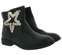 ARIZONA Schuhe Boots coole Damen Stiefeletten mit Nieten Schwarz