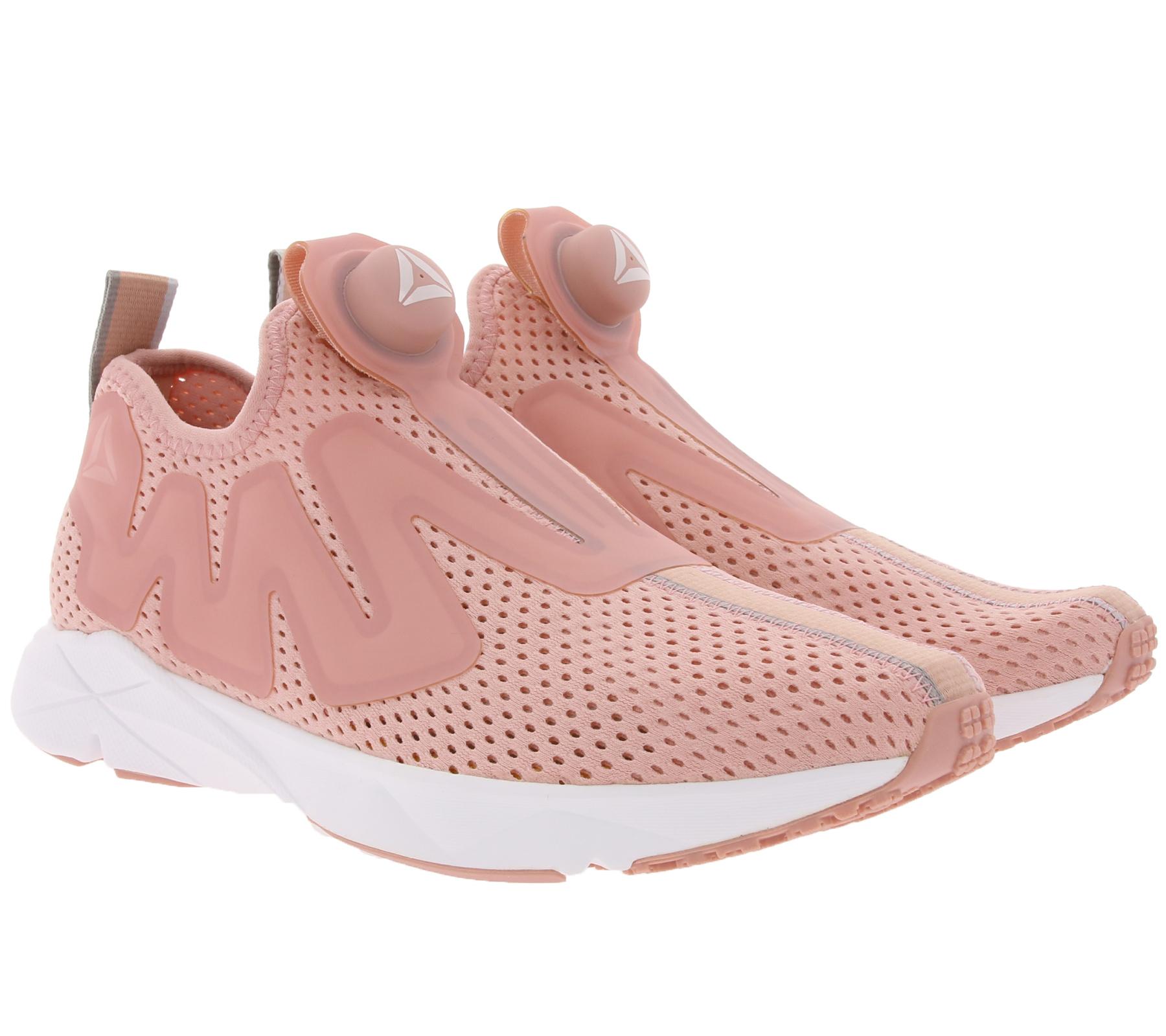 Reebok Sneaker coole Damen Schuhe Pump Supreme Tape Rosa/Weiß