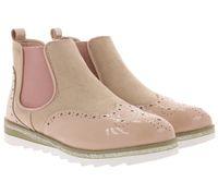 City WALK Schuhe Chelsea-Boots stylische Damen Stiefelette Altrosa