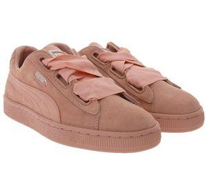 PUMA Suede Heart EP Schnür-Schuhe coole Sneaker für Damen Rosé
