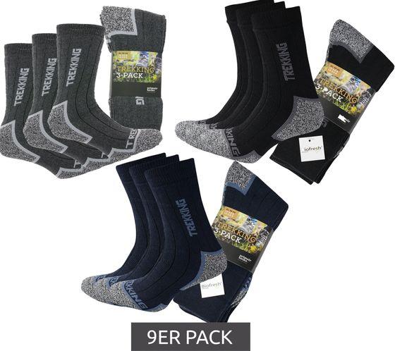 9er Pack primair socks. Freizeit-Strümpfe komfortable Trekking-Socken für Damen und Herren