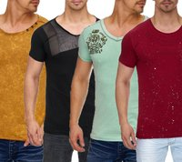 Tazzio Fashion Party T-Shirts stylische Herren Club-Shirts im Basic-Style