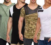 Tazzio Fashion Shirt Baumwoll-Shirt ausgefallene Herren Sommer T-Shirts