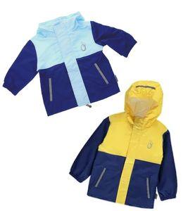 lamino Kinder-Outdoor-Regen-Jacke Blau Gelb Hellblau