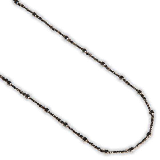 PEARLS FOR GIRLS Halskette coole Statement-Kette aus beschichtetem Metall Anthrazit