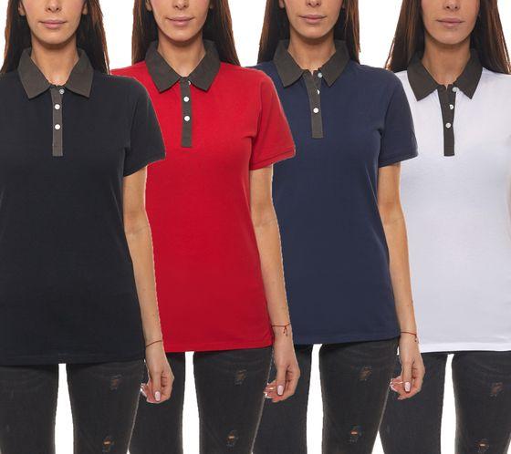 ELEVATE Polo-Hemden schicke Damen Sommer Polo-Shirts York
