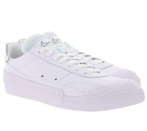 NIKE DROP-TYPE PRM komfortabler Sneaker Leder Weiß Unisex