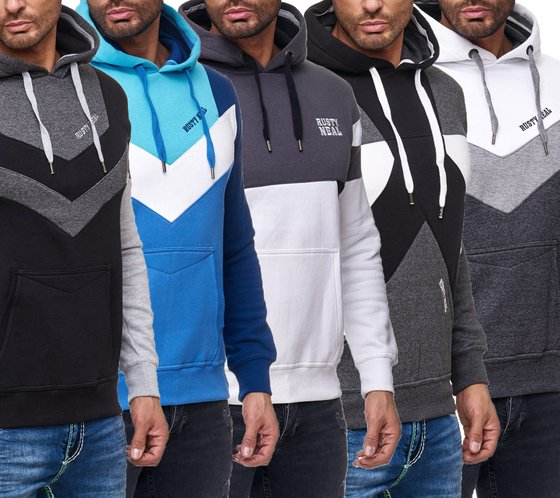 RUSTY NEAL Pulli Kapuzen-Pullover stylischer Herren Hoodie mit Kangaroo-Taschen