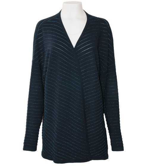 persona by MARIA RINALDI Mais Strick-Jacke elegante Damen Langarm-Jacke Marine