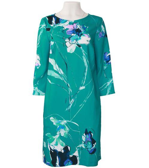 DANIEL HECHTER Druck-Kleid geblümtes Damen Midi-Kleid in plakativer Optik Aquamarine-Blau