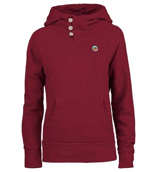 E9 Ida Hoodie warmer bequemer Damen Kapuzen-Sweater Made in Italy Magenta