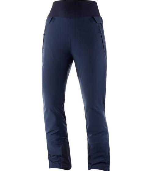 Salomon Reason Pant Snowboard-Hose praktische Damen Winter Softshell-Hose Blau