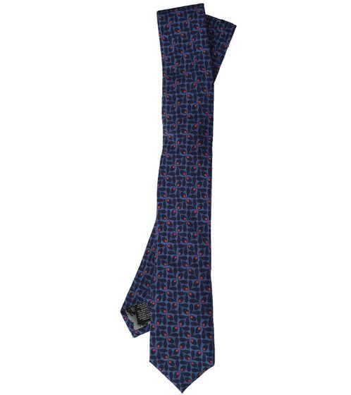 REAL GUYS by J.PLOENES Baumwoll-Schlips coole Herren Krawatte mit Seiden-Anteil Normale Breite Blau
