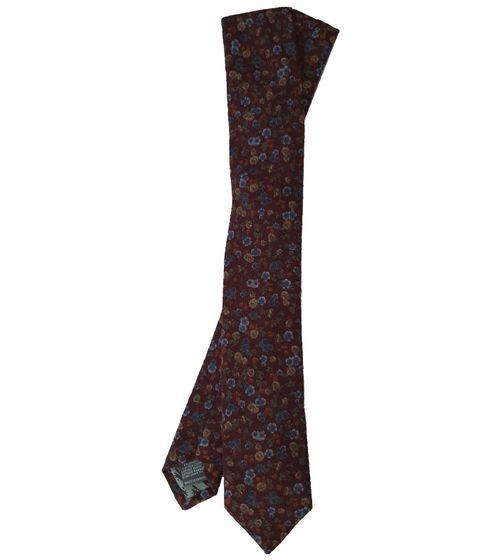 REAL GUYS by J.PLOENES Baumwoll-Krawatte normal breiter Herren Baumwoll-Schlips Rot geblümt
