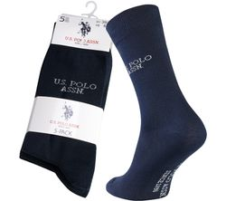 5 Pack U.S. POLO ASSN. Men's Business Socks Navy 135 43677 51935 177