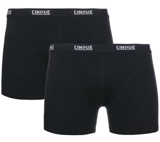 2er Pack CINQUE Shorts Cotton Stretch Herren Boxershorts Schwarz Unterwäsche