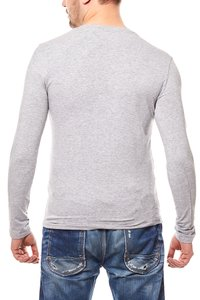 CARISMA Sweat Herren Sweatshirt Grau Slim Fit V-Neck – Bild 4