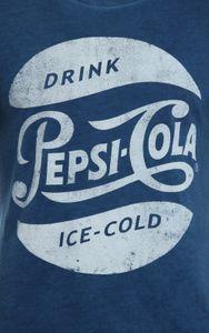 Pepsi Co Herren T-Shirt Retro Kurzarm-Shirt Blau – Bild 2
