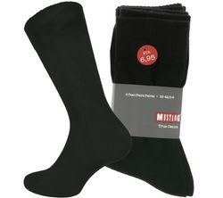 4er Pack MUSTANG Socken Schwarz MU31001