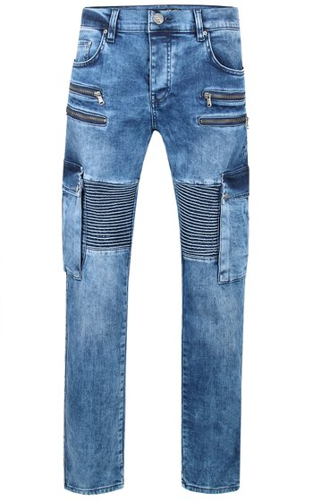 Tazzio Fashion Joe Herren Jeans Blau im Used Look Slim