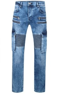 Tazzio Fashion Joe Herren Jeans Blau im Used Look Slim 001