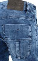 Tazzio Fashion Joe Herren Jeans Blau im Used Look Slim – Bild 3