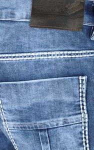 Tazzio Fashion Biker Herren Jeans Blau Slim Fit Used – Bild 3