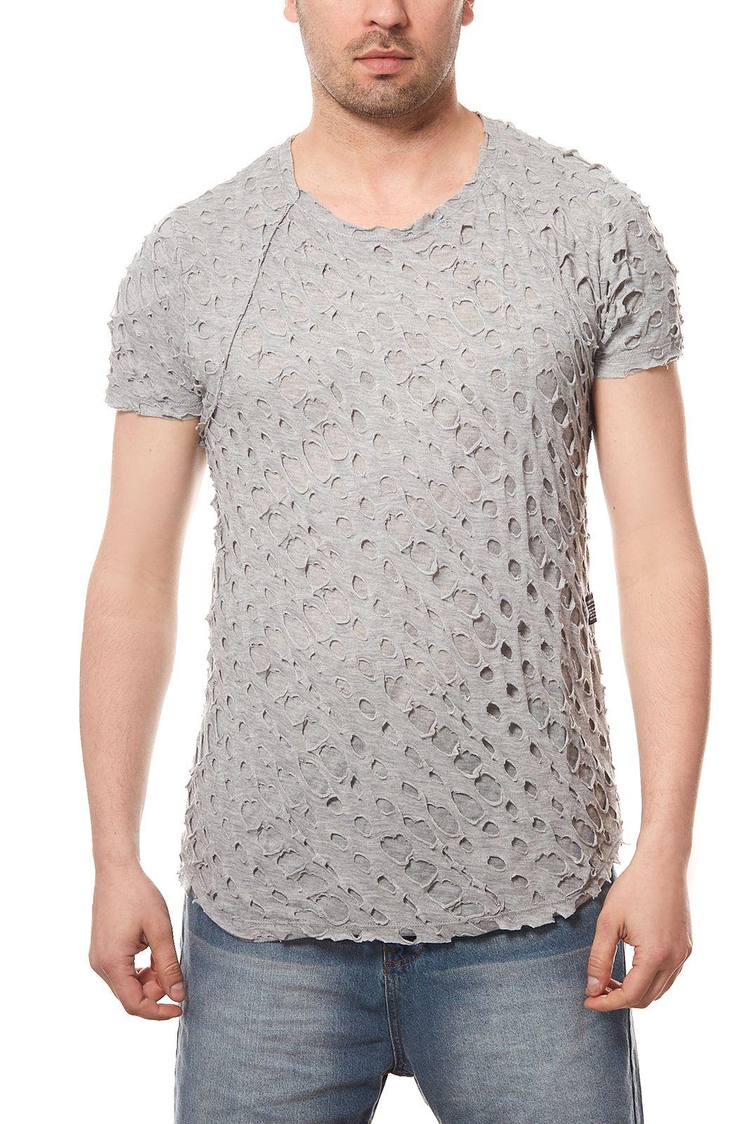 CARISMA Shirt T-Shirt Crewneck Herren Freizeit-Shirt Schwarz Rundhals Slim Fit