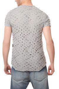 CARISMA T-Shirt Ripped Herren Cut Grau  – Bild 4