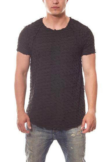 CARISMA Cut Herren T-Shirt Schwarz Ripped