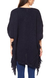 Fransen-Poncho Blau B.C. Best Connections by heine – Bild 4