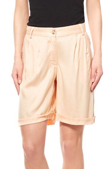 Tamaris Damen Stoff-Shorts Orange Kurze Hose