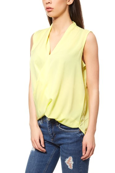 rick cardona by heine Women´s Blouse Top Yellow Wrap look