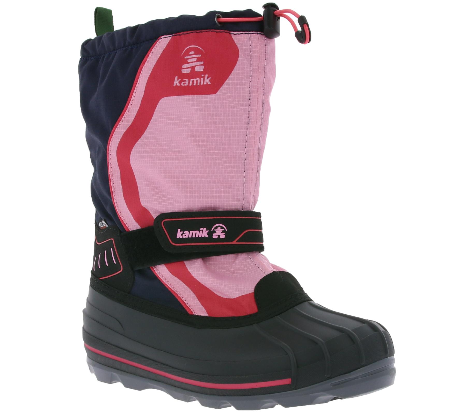 kamik Snowcoast 4 Kids Winter Boots Snow Shoes Navy |