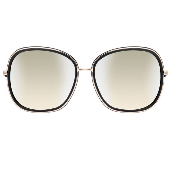 GUESS by MARCIANO Ladies Sunglasses Rectangular Black