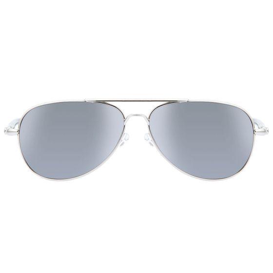 MONTBLANC Men's Aviator Sunglasses UV Protection Silver