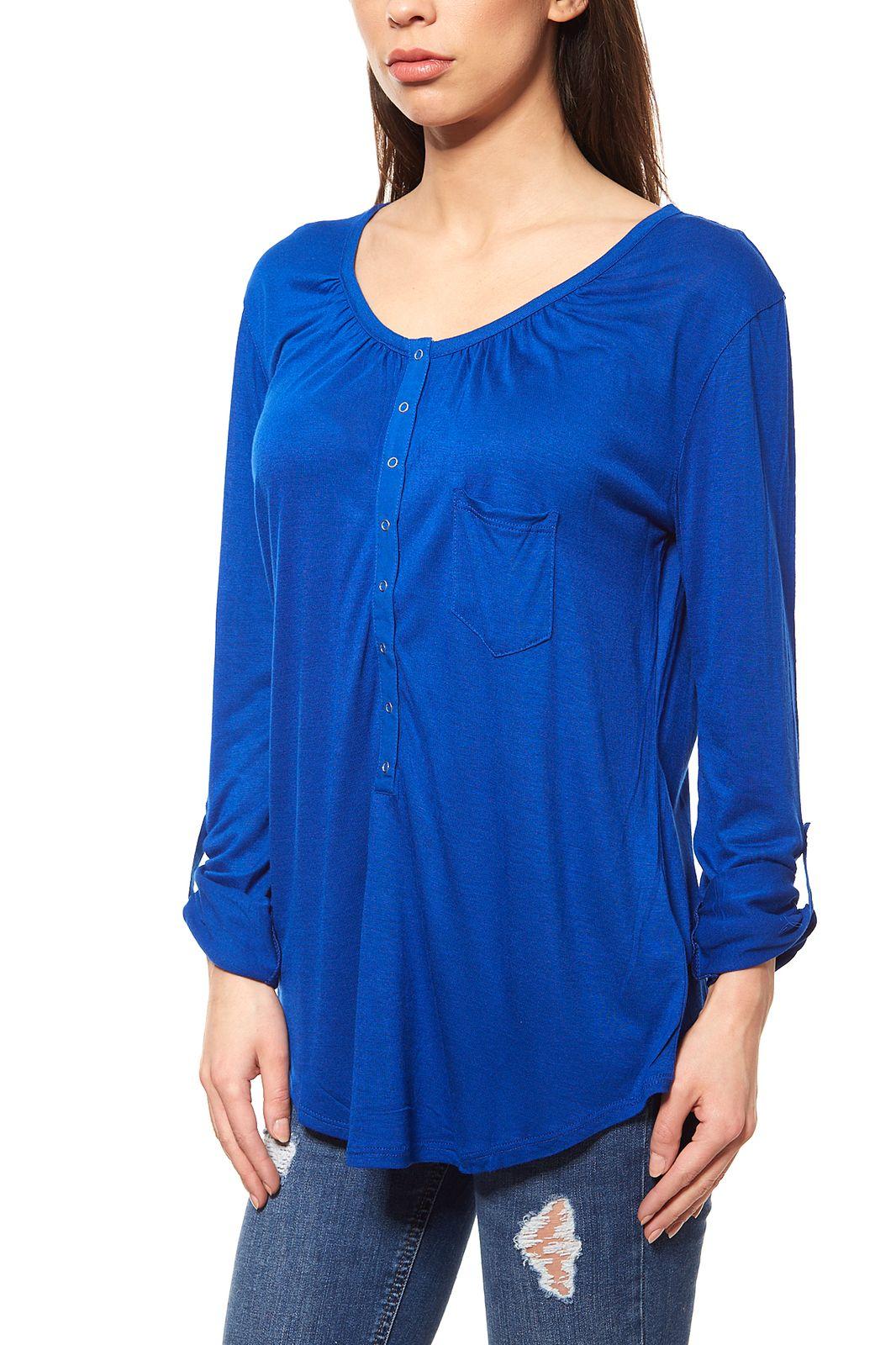Langarmshirt Damen blau 3864efdd94